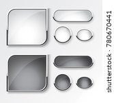 black and white button set the... | Shutterstock .eps vector #780670441