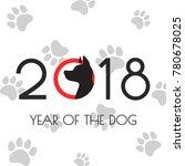 illustration of 2018 new year...   Shutterstock .eps vector #780678025