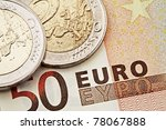 money  euro coins and bills...