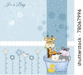 Stock vector animal baby shower 78067996