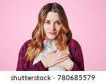 body language concept. gorgeous ... | Shutterstock . vector #780685579