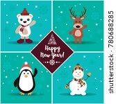 light blue new year card   Shutterstock . vector #780688285
