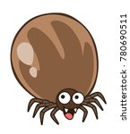 tick from dog animal character  ... | Shutterstock .eps vector #780690511