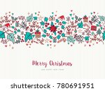merry christmas and happy new... | Shutterstock . vector #780691951