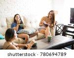 cute female friends and... | Shutterstock . vector #780694789