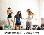 group of pretty women in their... | Shutterstock . vector #780694795