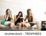 cute group of women all dressed ...   Shutterstock . vector #780694801