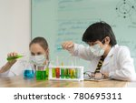 scientists test lab  chemicals | Shutterstock . vector #780695311