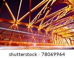 night traffic lights inside of... | Shutterstock . vector #78069964