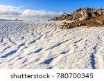 beautiful scenic snowy winter... | Shutterstock . vector #780700345