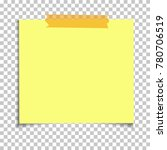 office yellow paper sticky note ... | Shutterstock .eps vector #780706519