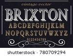 vintage font handcrafted vector ... | Shutterstock .eps vector #780709294