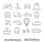 transport line icons on white | Shutterstock . vector #780709924