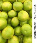 Small photo of pomelo harvest. many green pomeloes. green grapefruits