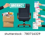 office chair and sign vacancy... | Shutterstock .eps vector #780716329