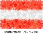 flag of austria with snowflakes.... | Shutterstock .eps vector #780719401