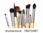professional make up brushes | Shutterstock . vector #78072487