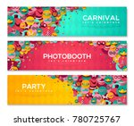 horizontal banners with... | Shutterstock .eps vector #780725767