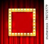 gold frame with light bulbs on... | Shutterstock .eps vector #780725779