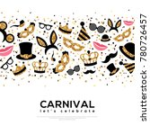carnival concept banner with... | Shutterstock .eps vector #780726457