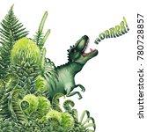 watercolor tyrannosaurus rex... | Shutterstock . vector #780728857