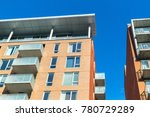 modern condo buildings with... | Shutterstock . vector #780729289