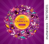 carnival concept banner with... | Shutterstock .eps vector #780730351