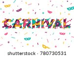 carnival greeting card with... | Shutterstock .eps vector #780730531