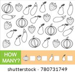 count how many fruits  berries... | Shutterstock .eps vector #780731749