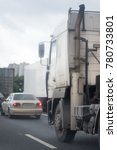 logistic by container truck on