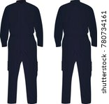 dark blue repairman uniform....   Shutterstock .eps vector #780734161