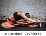 young woman sport stretching in ... | Shutterstock . vector #780746659