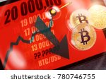 bitcoin cryptocurrency chart on ... | Shutterstock . vector #780746755