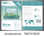 travel flyer design with famous ... | Shutterstock .eps vector #780747829