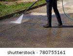 washing the platform in... | Shutterstock . vector #780755161