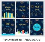 new year fireworks celebration. ... | Shutterstock .eps vector #780760771