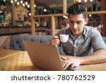 business man working on laptop...   Shutterstock . vector #780762529