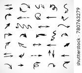 hand drawn arrows  vector set | Shutterstock .eps vector #780763279