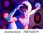 young people at a night party... | Shutterstock . vector #780763579