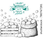 potato vector illustration. box ...   Shutterstock .eps vector #780767281