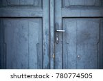 a photo of a wooden door with a ... | Shutterstock . vector #780774505
