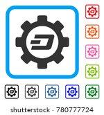 dash options gear icon. flat...