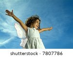 Young Girl With Fairy Wings...