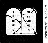 the ten commandments icon in... | Shutterstock .eps vector #780778825