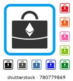ethereum business case icon....   Shutterstock .eps vector #780779869