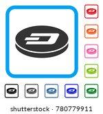 dash coin icon. flat gray... | Shutterstock .eps vector #780779911
