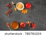 composition with honey  apple... | Shutterstock . vector #780781024