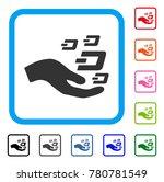 hand offer dash symbols icon.... | Shutterstock .eps vector #780781549