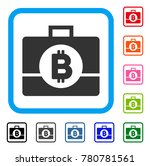 bitcoin business case icon....   Shutterstock .eps vector #780781561