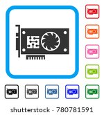 gpu accelerator card icon. flat ... | Shutterstock .eps vector #780781591